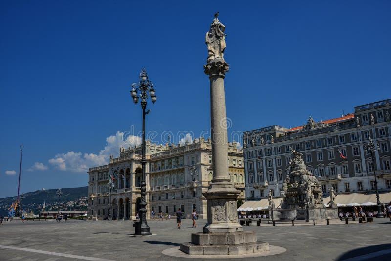 Trieste, UNITA de la plaza fotos de archivo libres de regalías