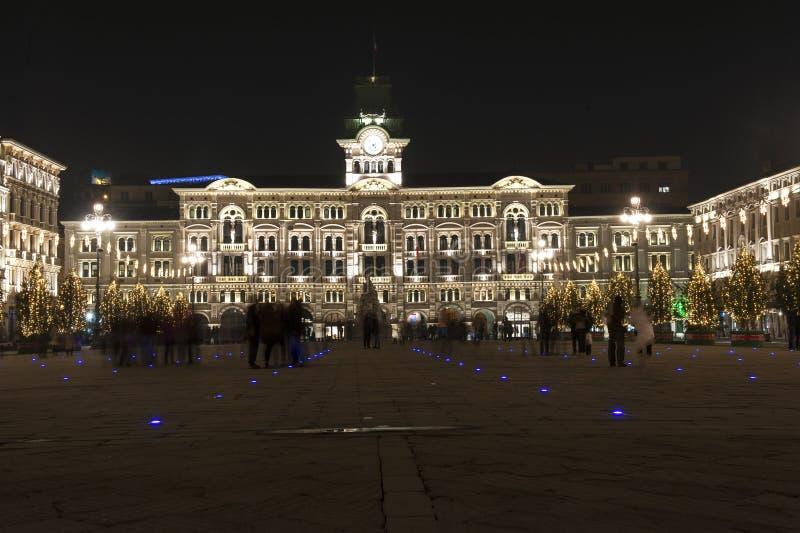 Trieste urząd miasta obrazy stock