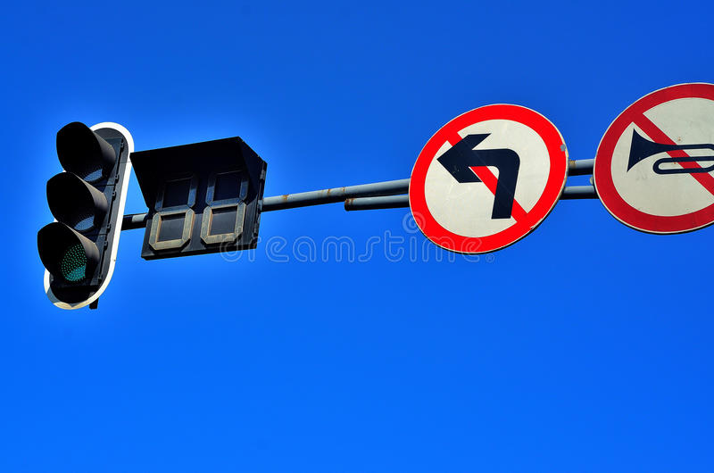 Triffic Signs Royalty Free Stock Image