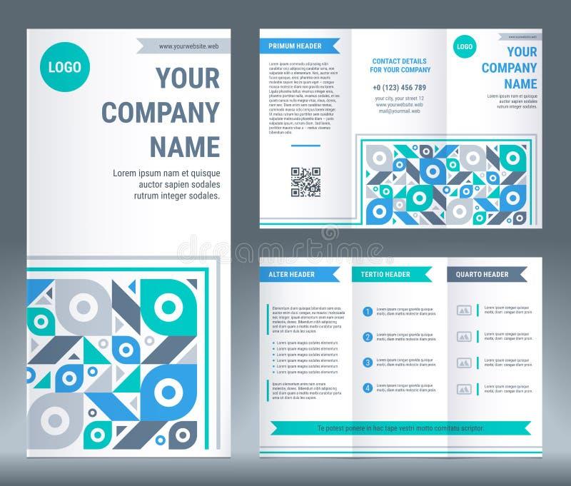 Trifold дизайн шаблона корпоративного бизнеса брошюры иллюстрация вектора