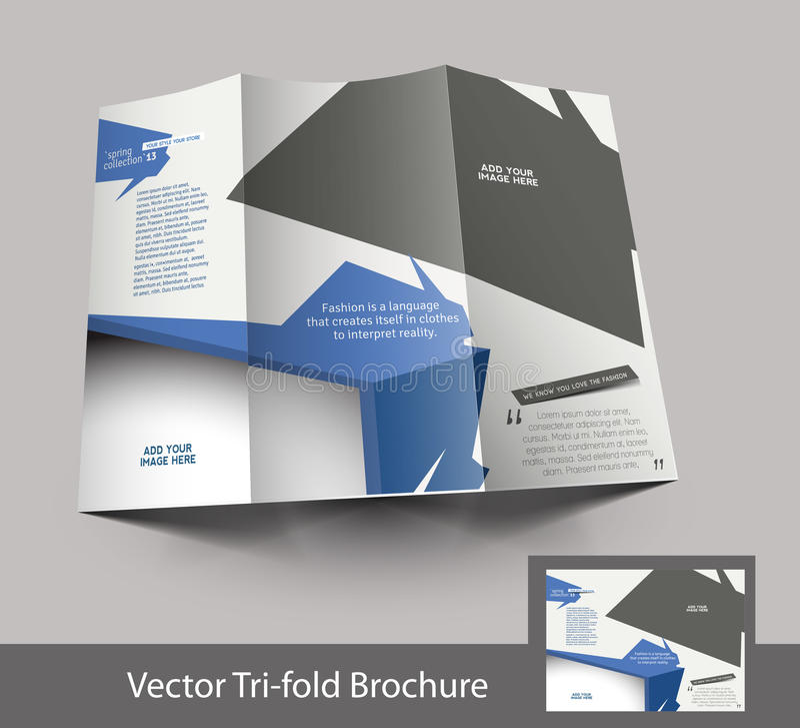 Trifold дизайн брошюры моды иллюстрация штока
