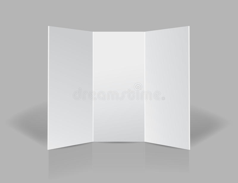 Trifold листовка пробела представления бесплатная иллюстрация