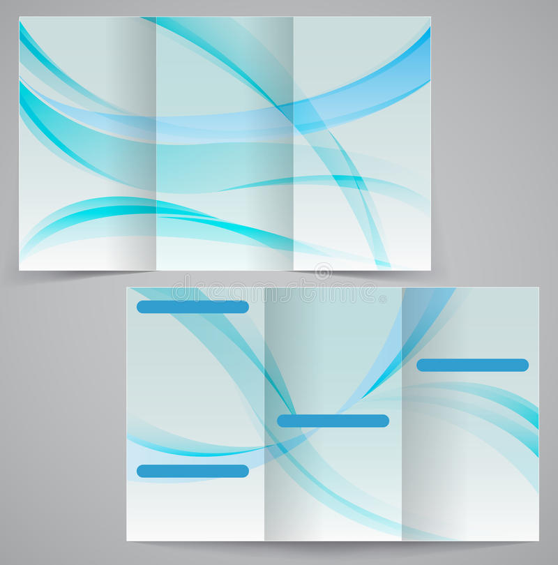 Trifold bedrijfsbrochuremalplaatje, vector blauwe D vector illustratie