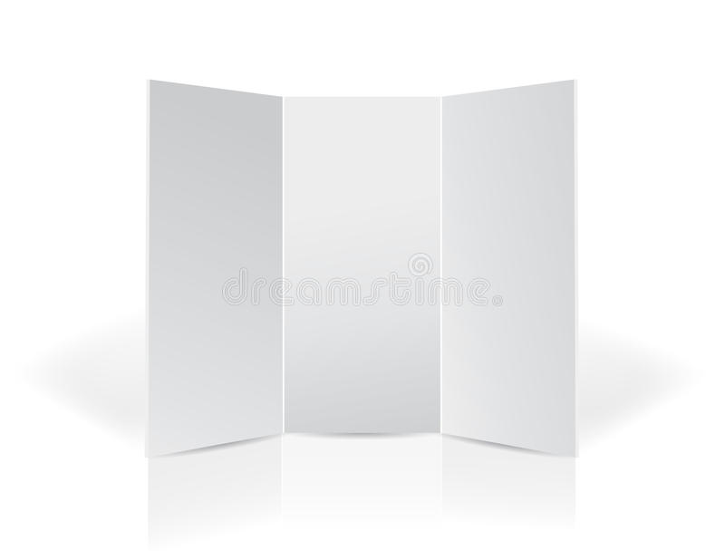 Download Trifold Black Leaflet Presentation Board Stock Illustration - Illustration: 29052433