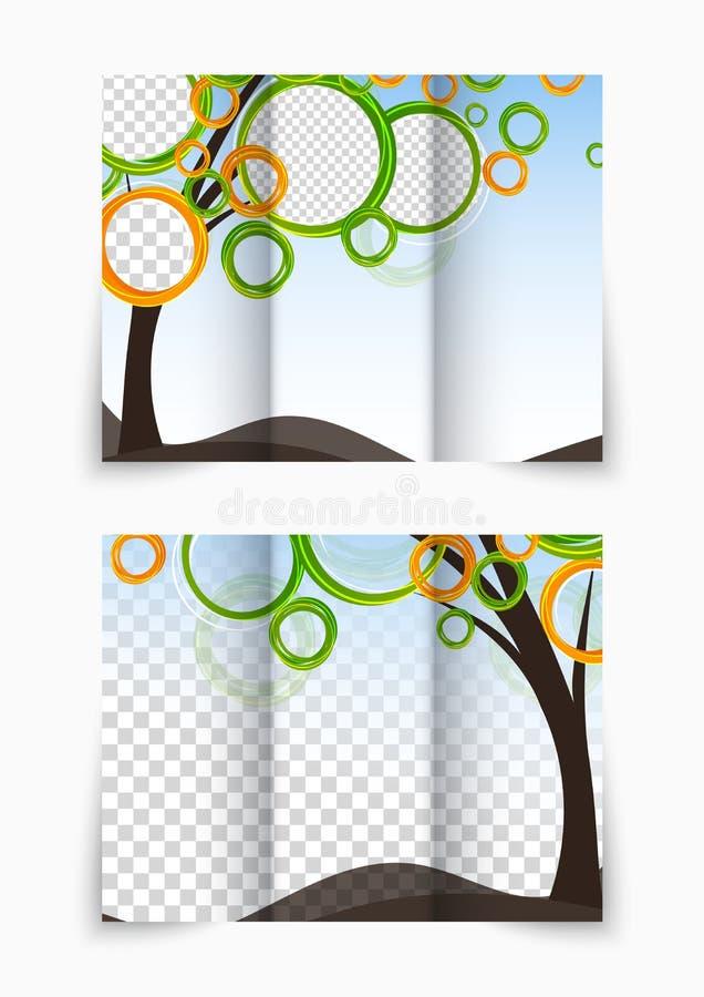 Trifold broszurka ilustracji
