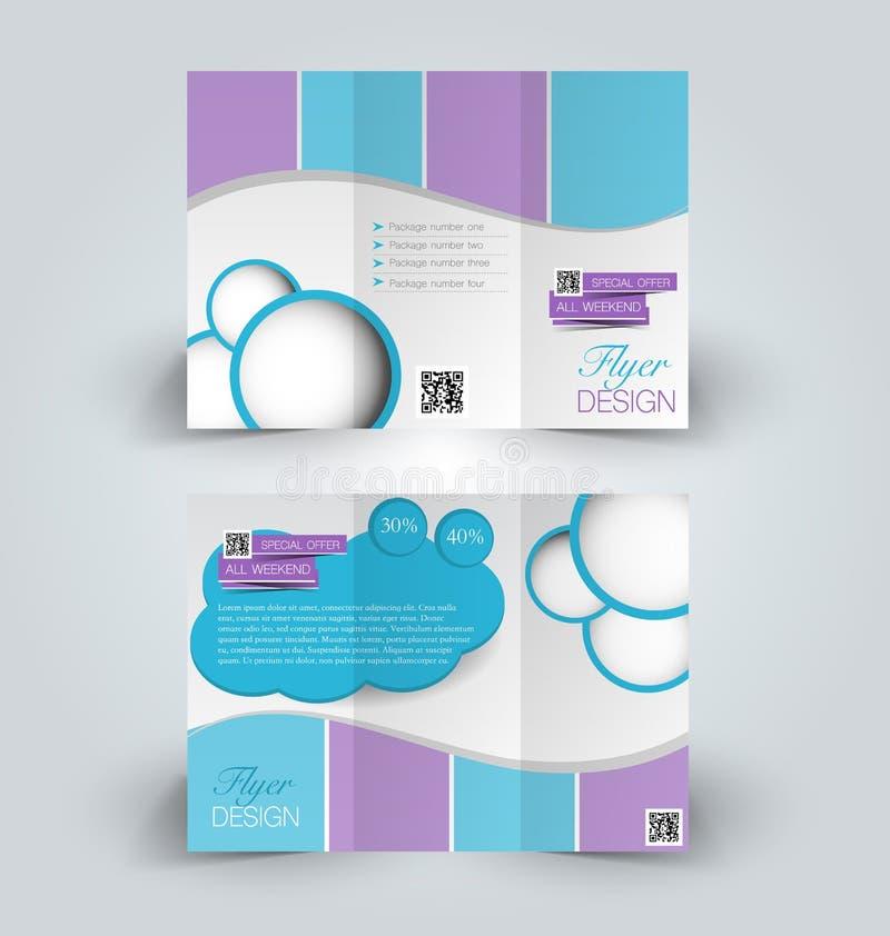 brochure insert template - trifold business brochure leaflet template stock vector