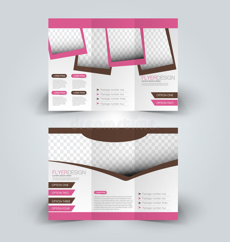 Trifold business brochure leaflet template royalty free illustration