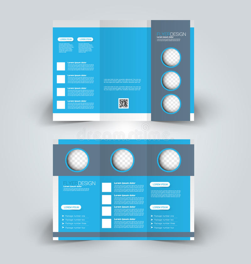 Trifold business brochure leaflet template. Brochure design template. Abstract background. for business, education, advertisement. Trifold booklet editable royalty free illustration