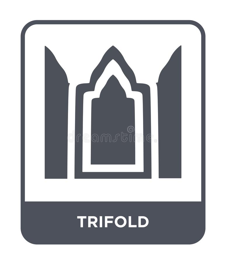 trifold icon in trendy design style. trifold icon isolated on white background. trifold vector icon simple and modern flat symbol vector illustration