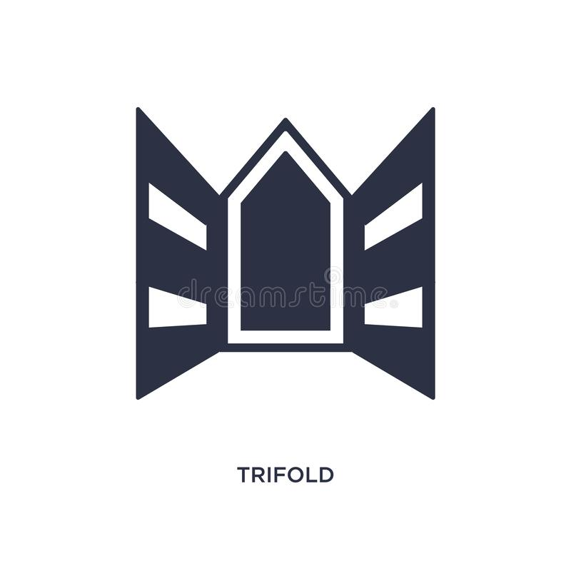 trifold icon on white background. Simple element illustration from history concept stock illustration