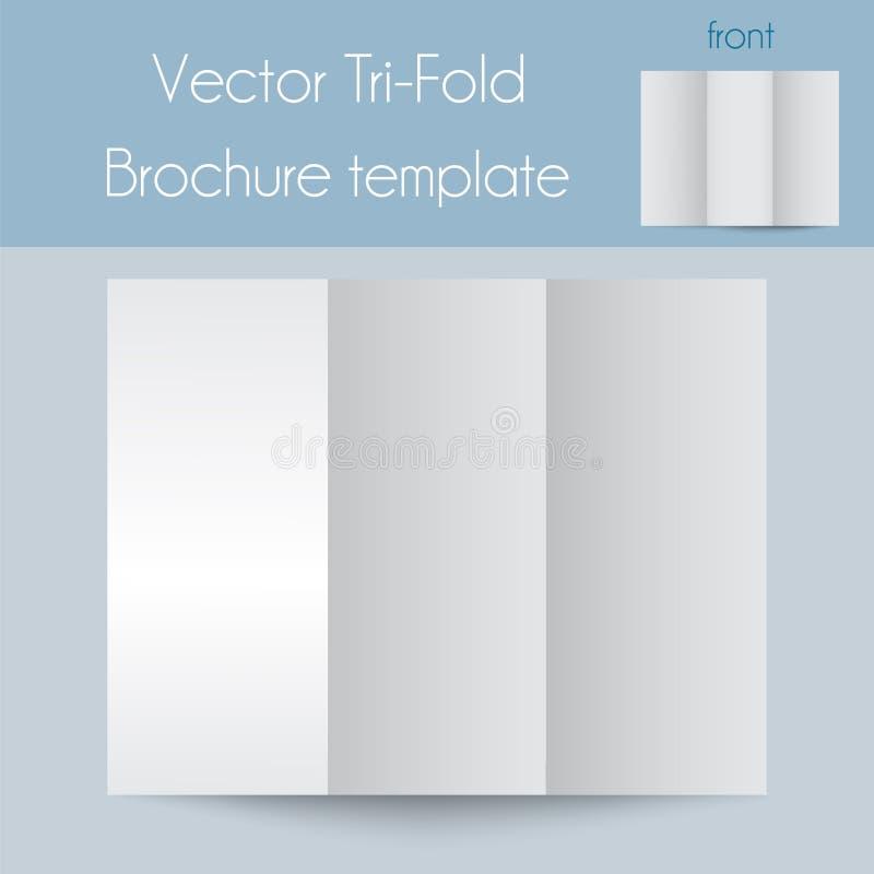 Trifold&Spa Brochure&Mock acima ilustração stock