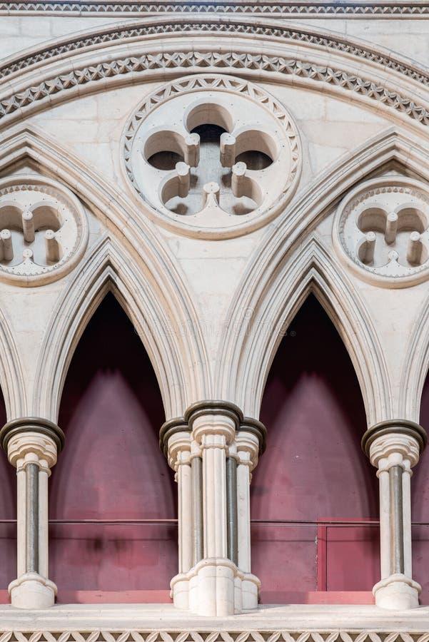 Triforium dans le transept du nord à l'abbaye de York (cathédrale) photographie stock libre de droits