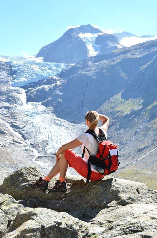 Trift glacier. Switzerland stock photo