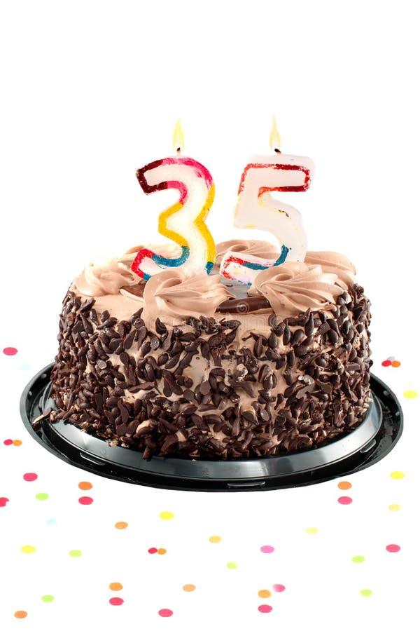 Trigésimo quinto cumpleaños o aniversario imagen de archivo libre de regalías
