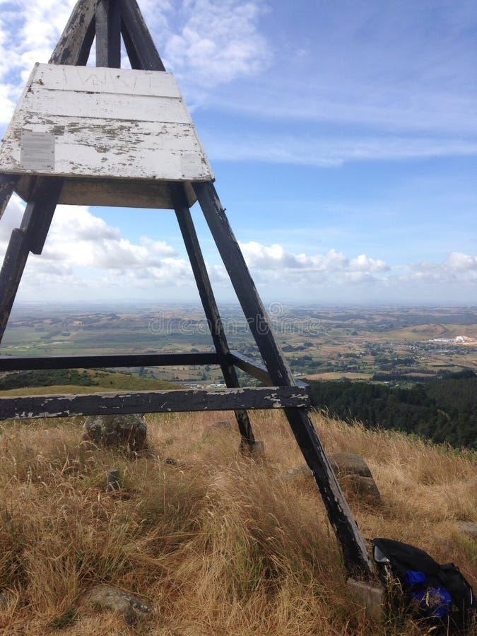 Trig mening over Waikato stock foto