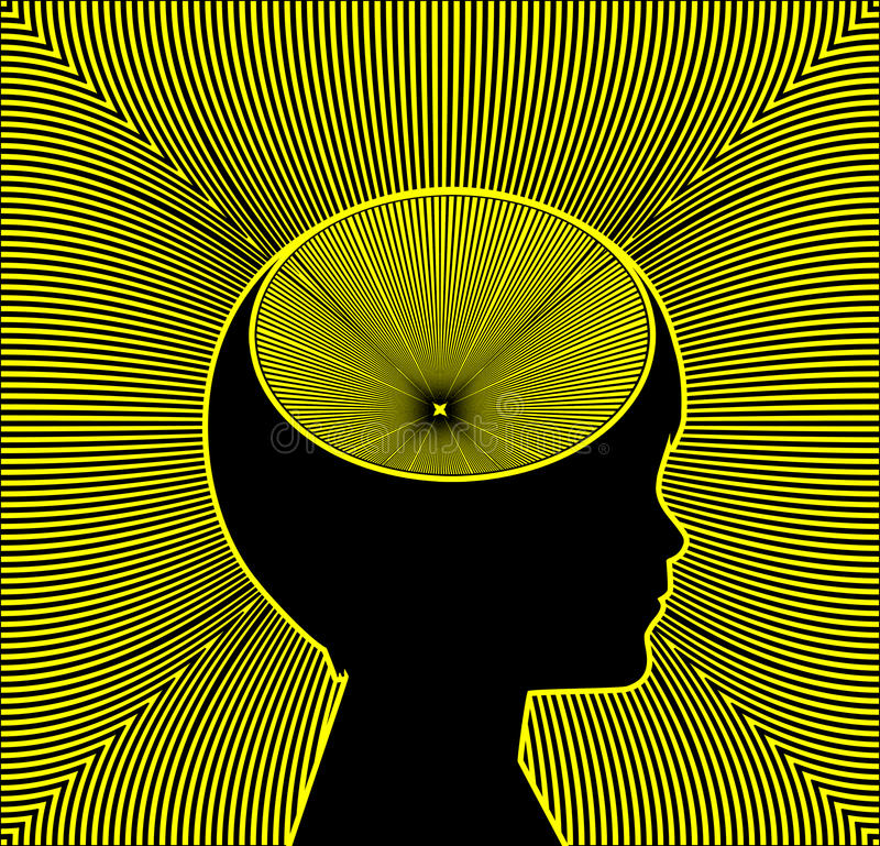 Trigger of ADHD and Epilepsy royalty free illustration