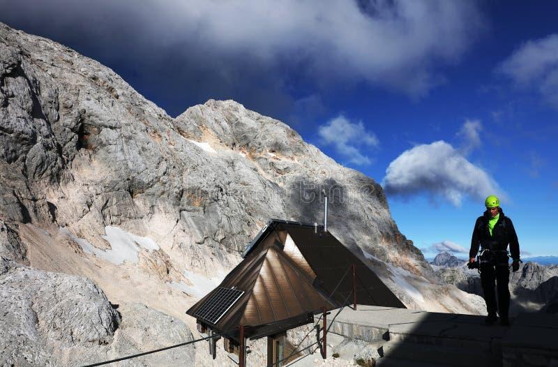 TRIGLAV, AUGUSTI 20, 2019: Alperna i nationalparken Triglav, Julian Alps, Slovenien royaltyfria foton