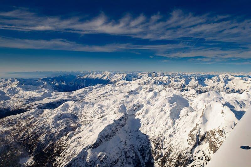 Triglav em Julian Alps no inverno, paisagem aérea imagens de stock royalty free