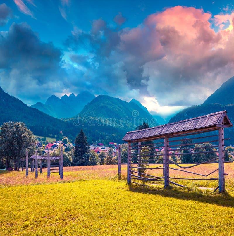Triglav mountain range royalty free stock photo