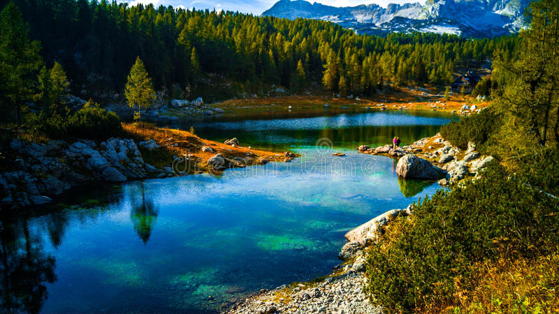 Triglav's lakes in Slovenia spring time royalty free stock images