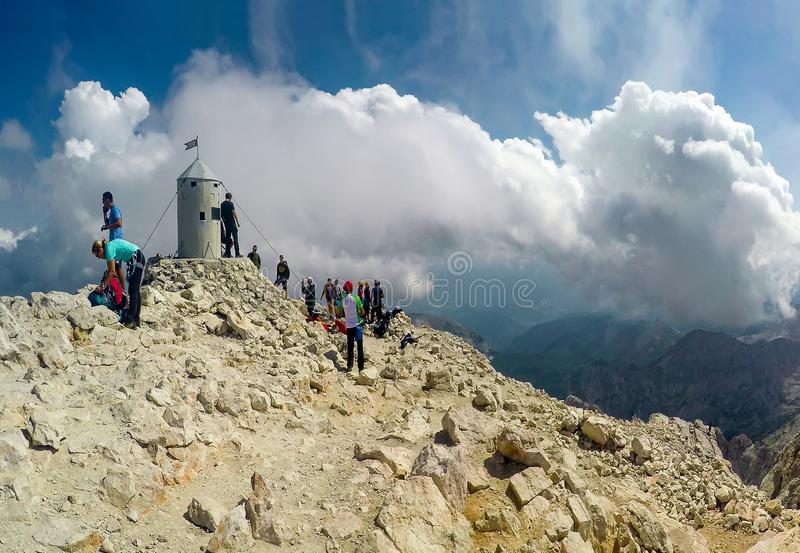 The top of the highest mountain of Slovenia - Triglav stock images