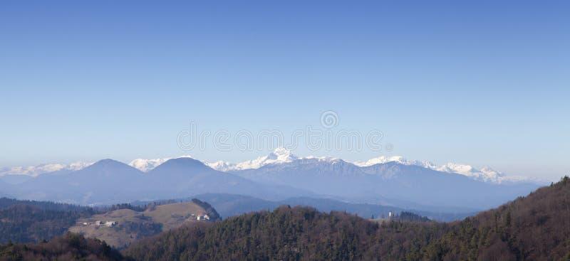 Triglav-the wysoka góra w Słoweńskich Alps obraz royalty free