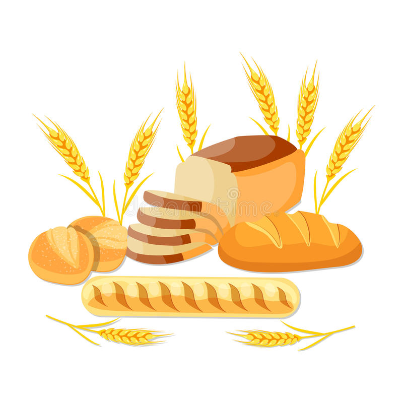 Trigo integral bread stock de ilustración