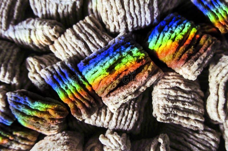 Trigo Shredded com arco-íris fotos de stock royalty free