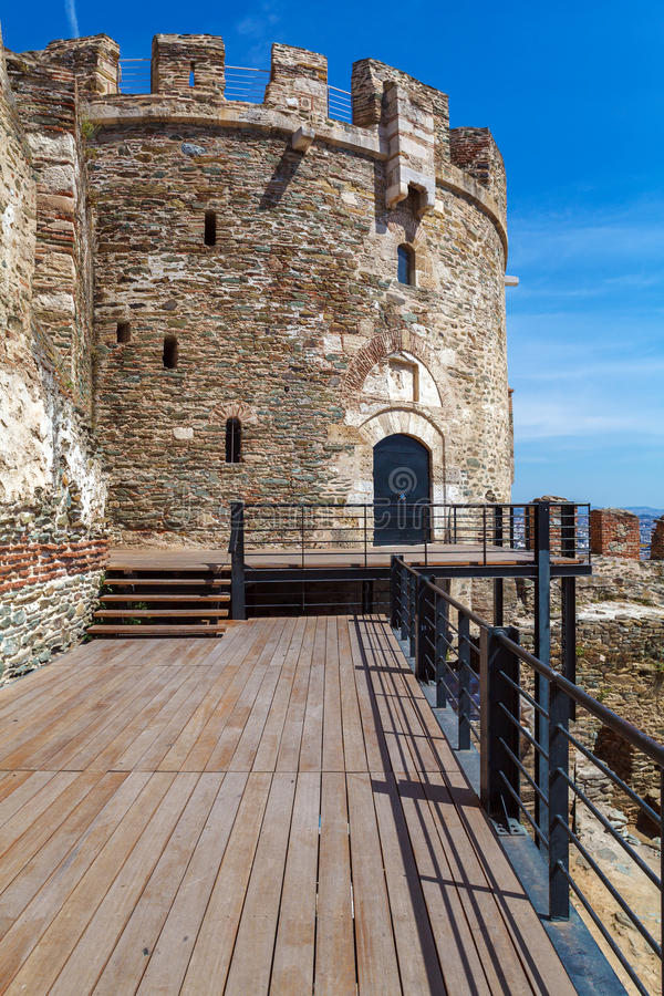 Trigonion Tower, Thessaloniki stock image
