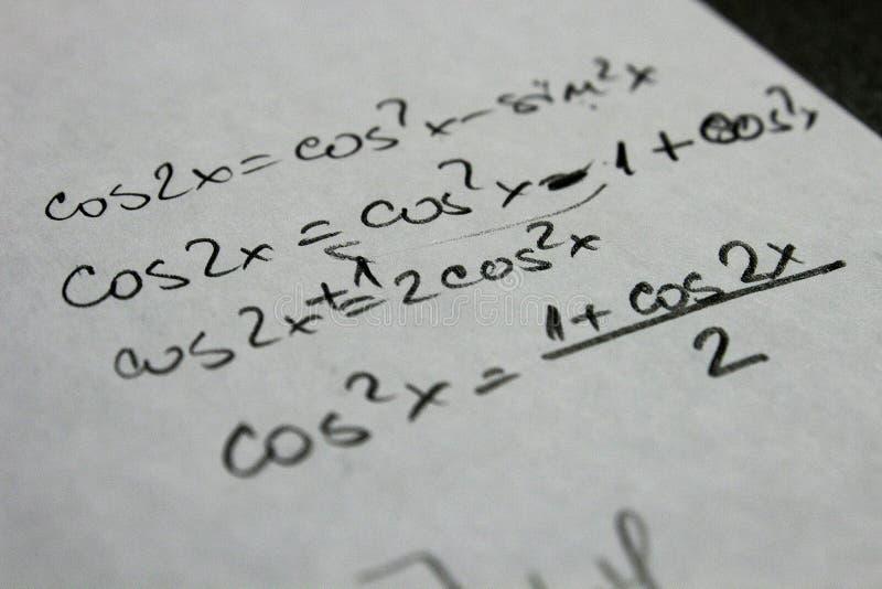 Trigonométrie de maths images libres de droits