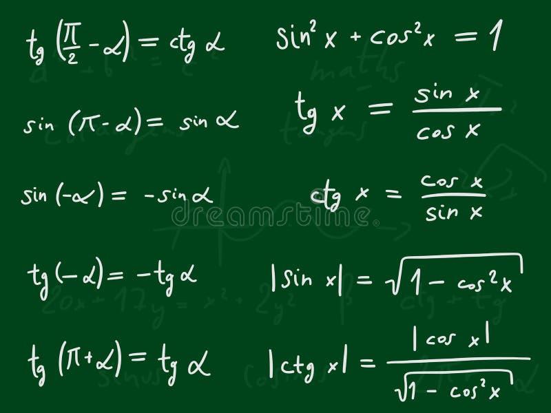 Trigonometrie vector illustratie