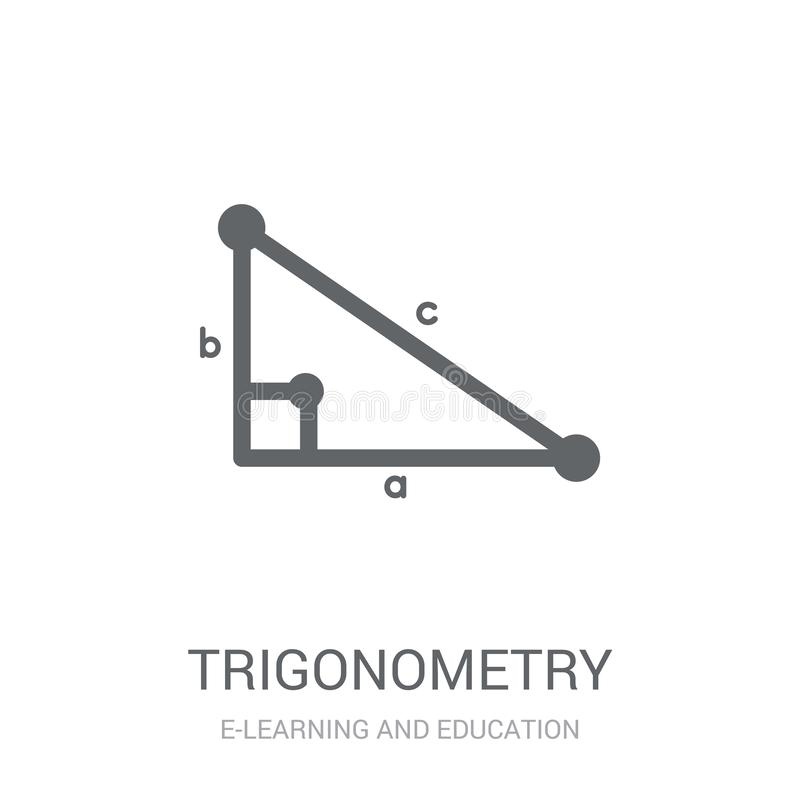 Trigonometry icon. Trendy Trigonometry logo concept on white background from E-learning and education collection royalty free illustration