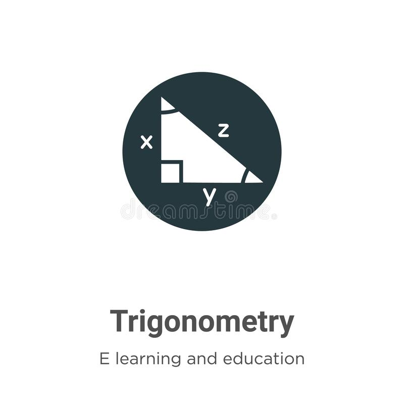 Trigonometry vector icon on white background. Flat vector trigonometry icon symbol sign from modern e learning and education vector illustration
