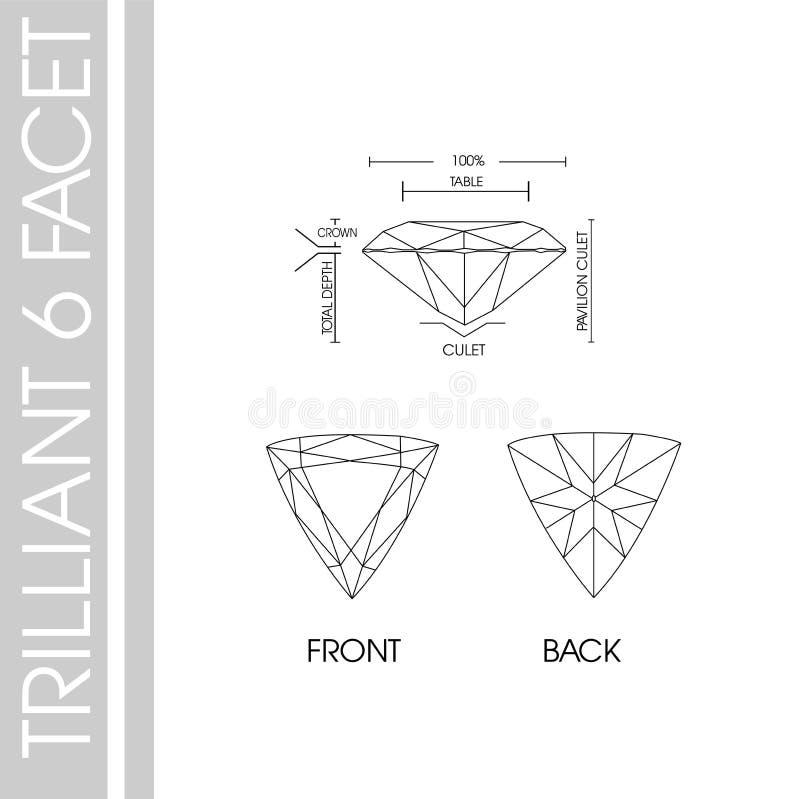 Triilliant kształta 6 faseta obraz royalty free