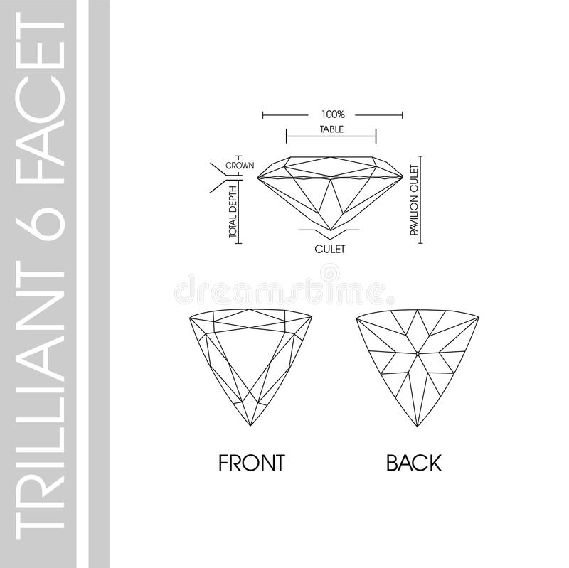 Triilliant kształta 6 faseta zdjęcia royalty free