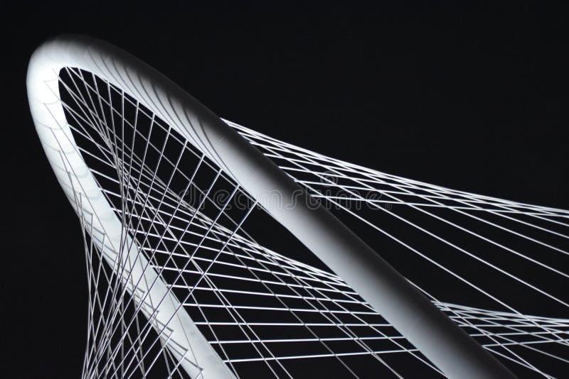 Triityrivier Margaret Hunt Hill Bridge in Dallas Texas royalty-vrije stock afbeelding
