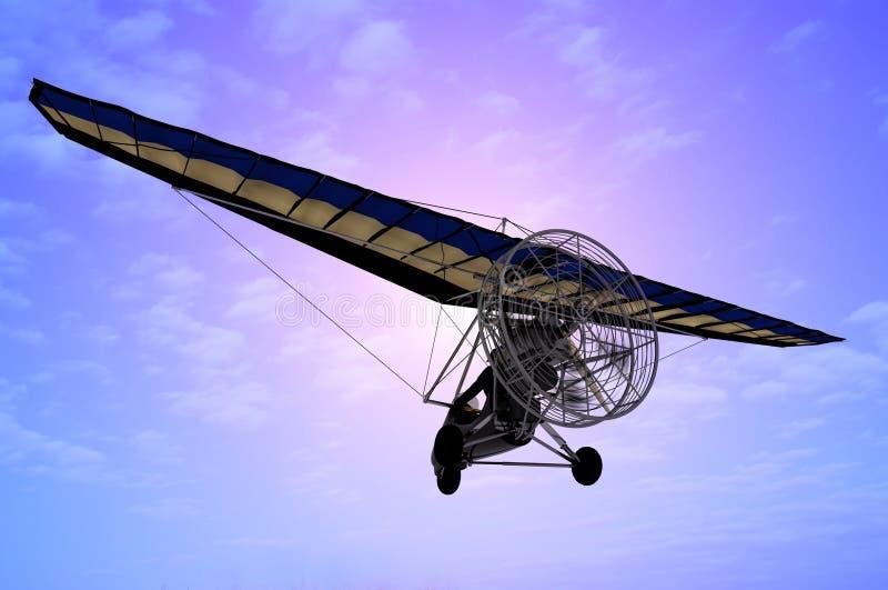 The Trike. Flyingin the sky vector illustration