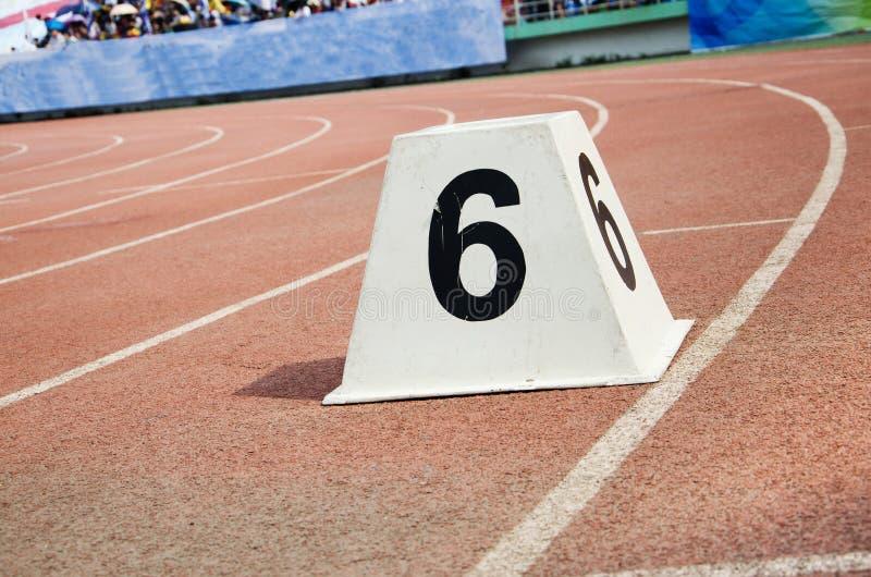 Trilha atlética imagem de stock
