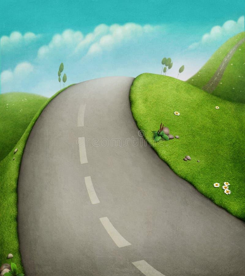 Trilha da bicicleta ilustração do vetor