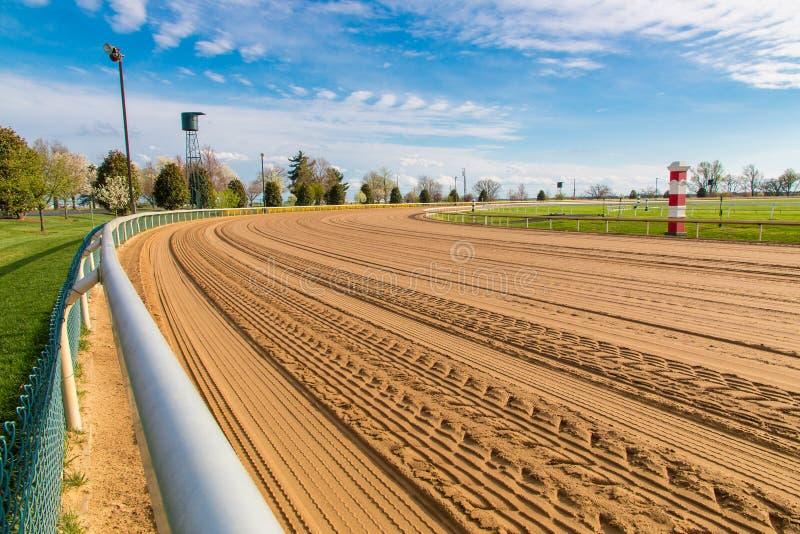 Trilha de corrida de cavalos foto de stock royalty free