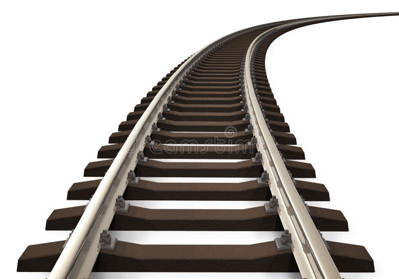 Trilha de estrada de ferro curvada ilustração do vetor