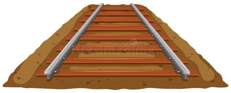 Trilha de estrada de ferro na terra ilustração royalty free