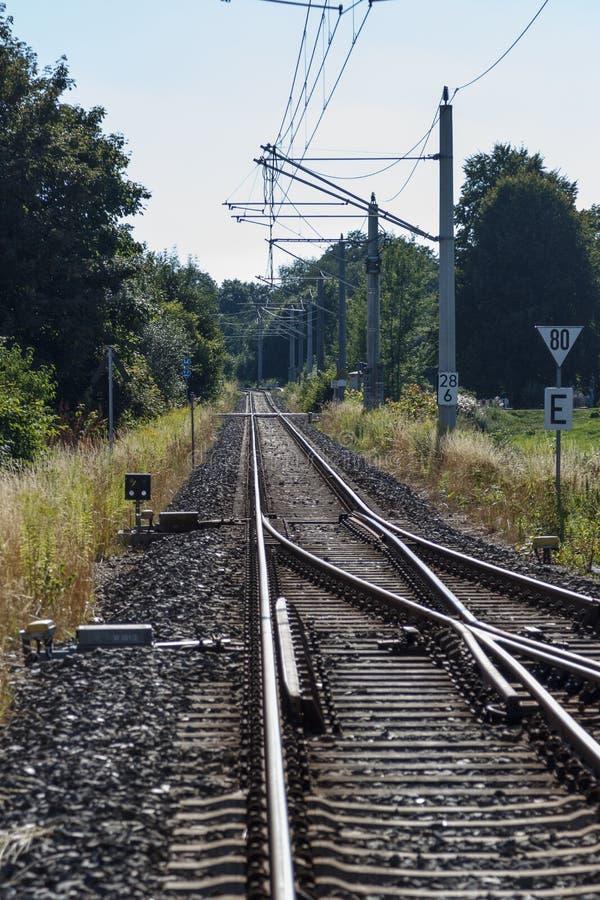 Trilha de estrada de ferro imagem de stock royalty free