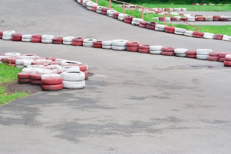 Trilha de Karting imagens de stock