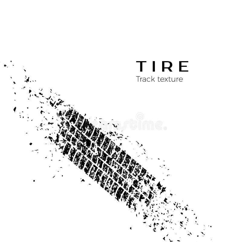 Trilha de sujeira do protetor da roda de carro Silhueta da trilha do pneu Trilha do pneu do Grunge Trilha preta do pneu Ilustraçã ilustração royalty free