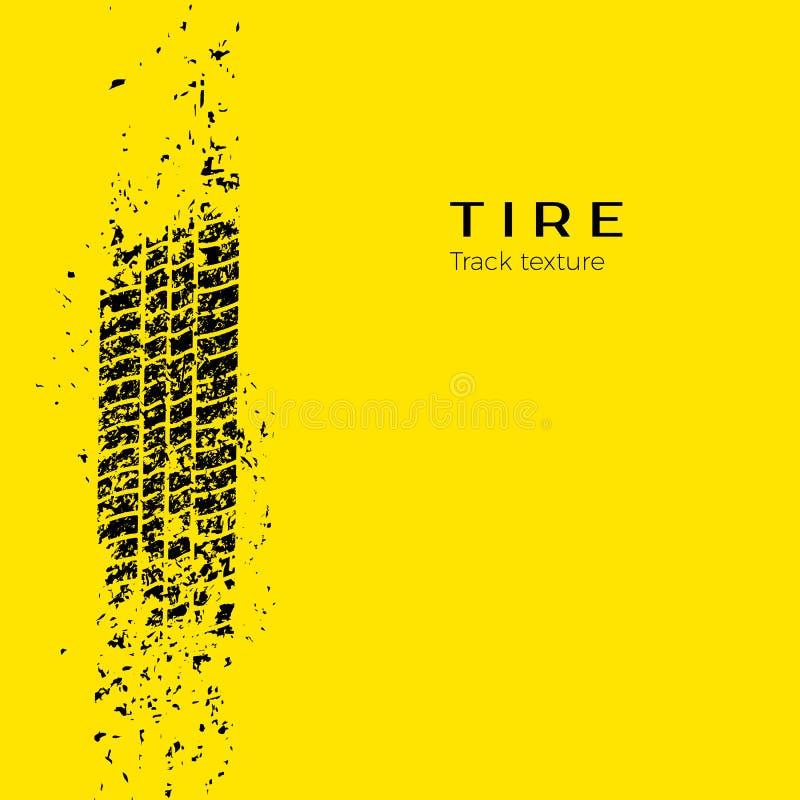Trilha de sujeira do protetor da roda de carro Silhueta da trilha do pneu Trilha do pneu do Grunge Trilha preta do pneu Ilustraçã ilustração stock