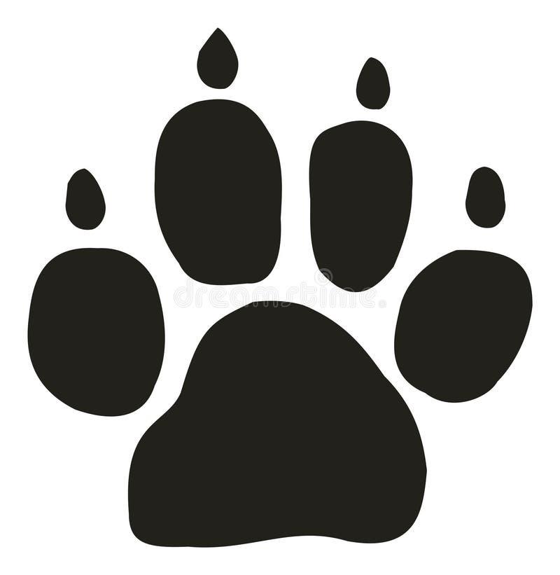 Trilha do cão ilustração stock