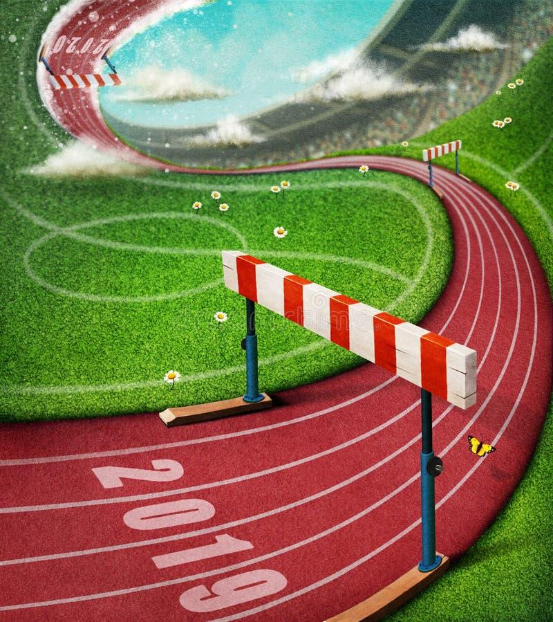 Trilha do esporte ilustração stock