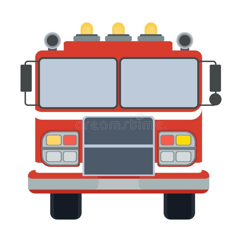 Trilha do fogo no branco ilustração stock