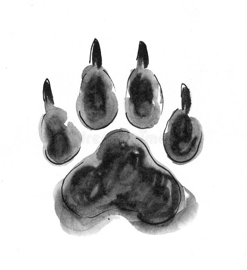 Trilha do lobo ilustração stock